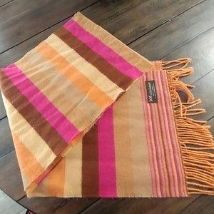 Multicolored cashmere scarf